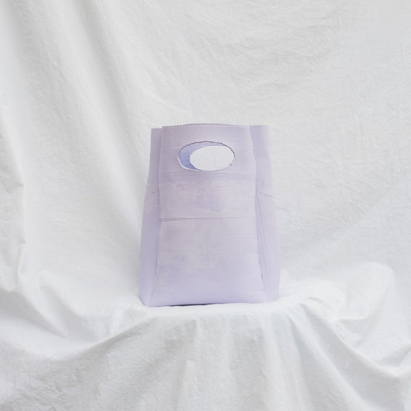 Molly Younger — Handcrafted Lilac Lunch Bag - Australian made Textiles