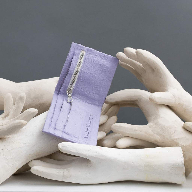 Molly Younger — Handcrafted Lilac Wallet - Australian made Textiles
