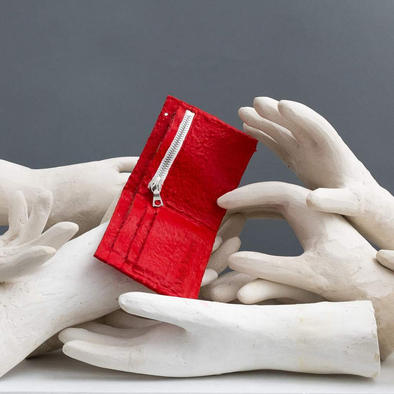 Molly Younger — Handcrafted Red Latex Wallet - Australian made Textiles