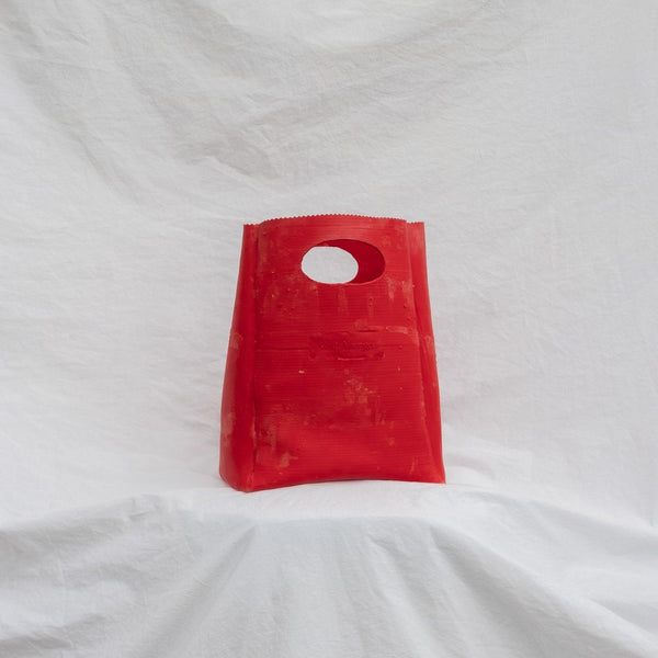 Molly Younger — Handcrafted Red Lunch Bag - Australian made Textiles