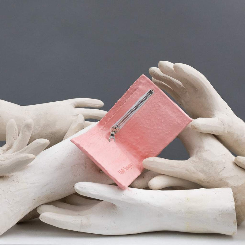 Molly Younger — Handcrafted Soft Pink Latex Wallet - Australian made Textiles