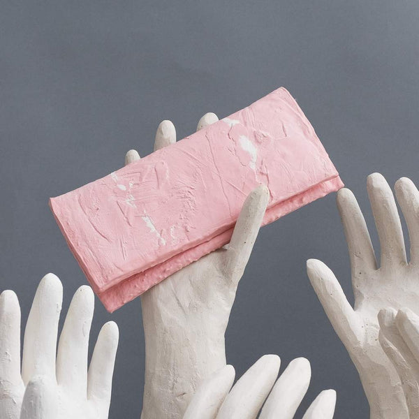 Molly Younger — Handcrafted Soft Pink Long Latex Wallet - Australian made Textiles