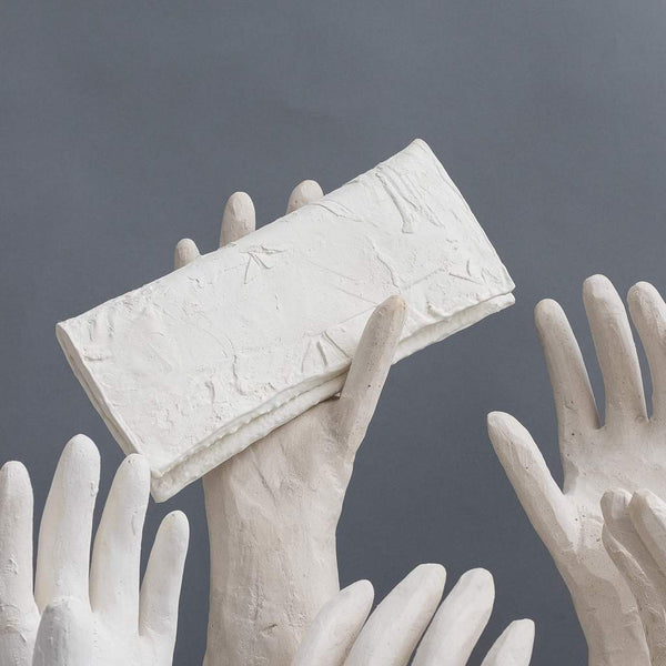 Molly Younger — Handcrafted White Long Latex Wallet - Australian made Textiles