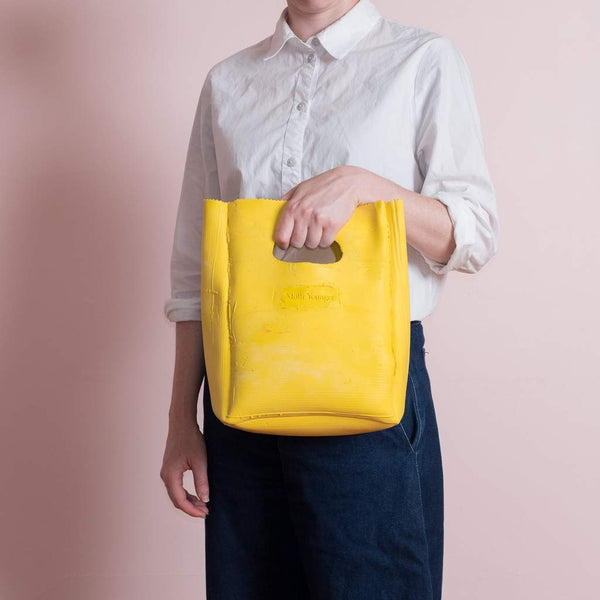 Molly Younger — Handcrafted Yellow Lunch Bag - Australian made Textiles