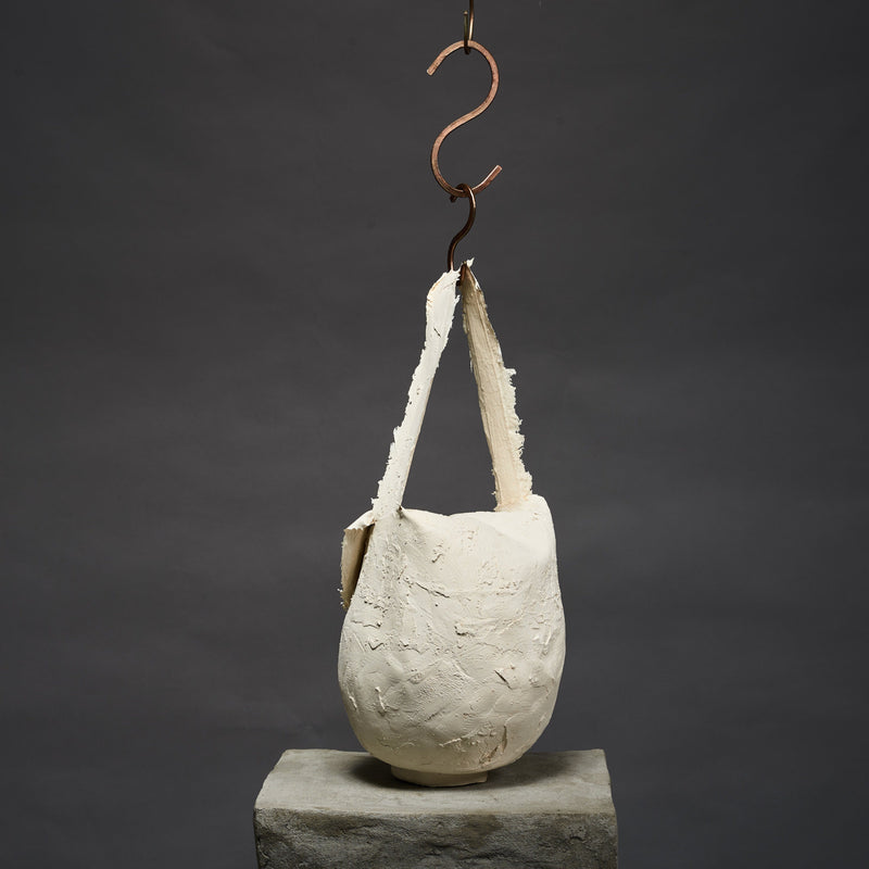 Molly Younger — Handcrafted White Pot Bag - Australian made Textiles