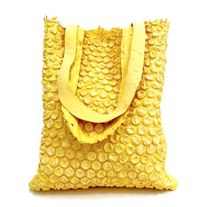 Molly Younger — Handcrafted Yellow Bubble Tote - Australian made Textiles