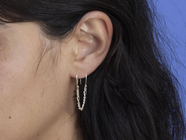 Newend — Single Silver 'Runner' Earring - Australian made Jewellery