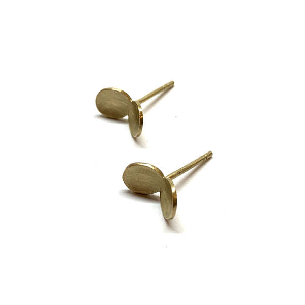 Nina Ellis — 9ct Yellow Gold Split Pea Stud Earrings - Australian made Jewellery