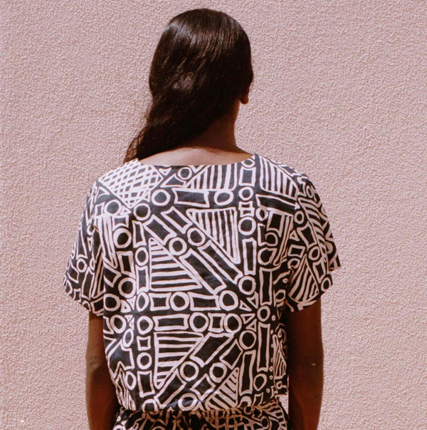 NORTH — Tiwi Boxy Top - Australian made Clothing