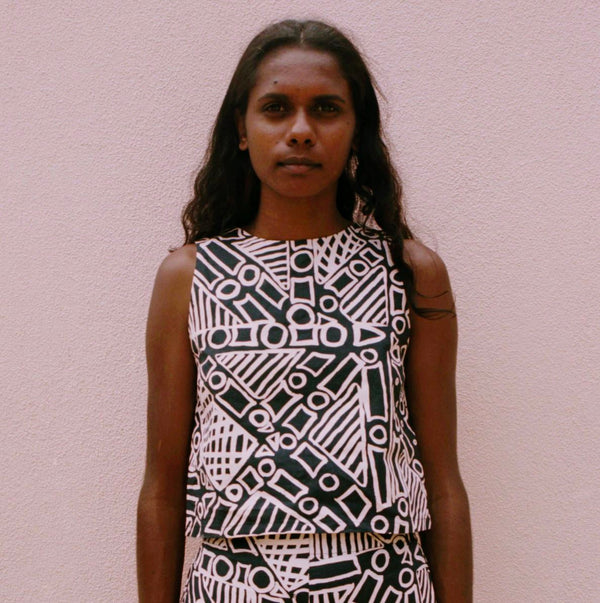 NORTH — Tiwi Summer Top - Australian made Textiles