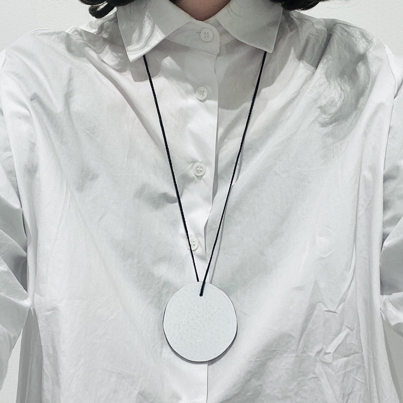 Pennie Jagiello — Hand Carved Reversible Black and White Neckpiece - Australian made Jewellery
