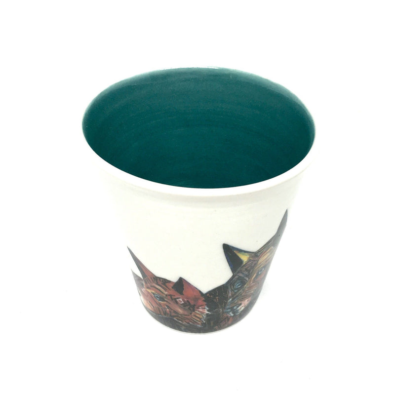 Peter Waples-Crowe x Craft — Latte Cup with Teal Interior cup mug ABORIGINAL PROJECTS | Craft