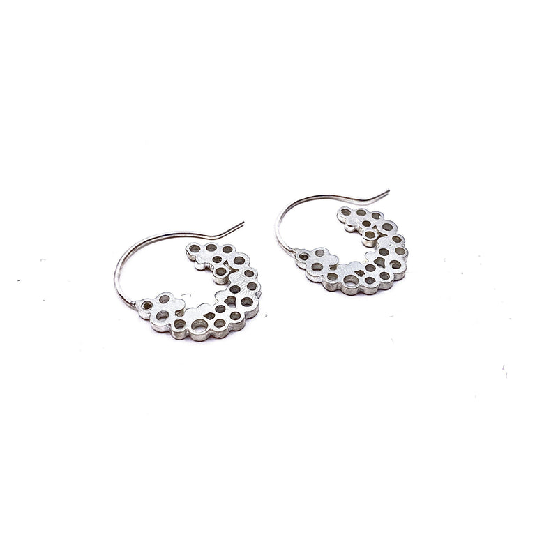 Pip Keane — Silver Bubble Hoop Earrings - Australian made Jewellery