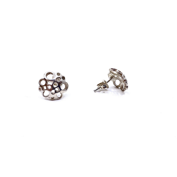 Pip Keane — Silver Bubble Stud Earrings - Australian made Jewellery