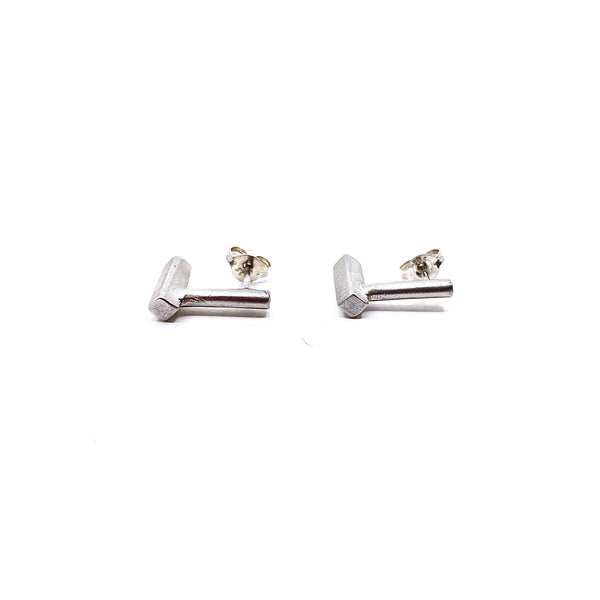 Pip Keane — Silver Line Stud Earrings - Australian made Jewellery