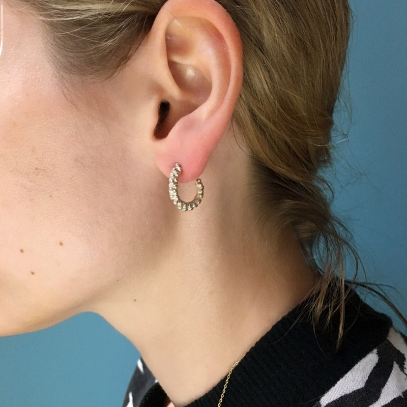 Pip Keane - Silver Lining Hoop Earrings - Jewellery - Craft