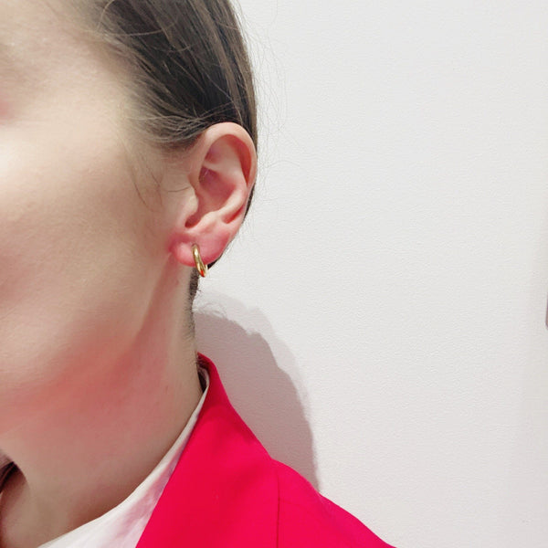 Rhiannon Smith, Two Hills — Earrings No.3, Gold - Australian made Jewellery