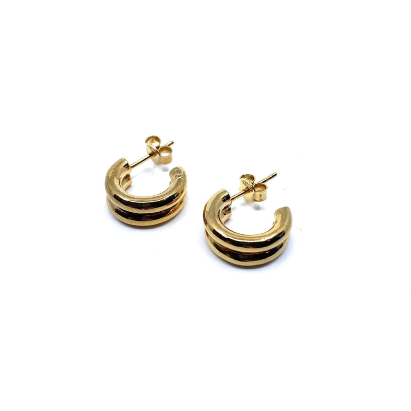 Rhiannon Smith, Two Hills — Earrings No.33 Gold - Australian made Jewellery