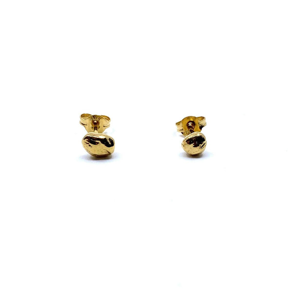 Rhiannon Smith, Two Hills — Gold Stud Earrings - Australian made Jewellery