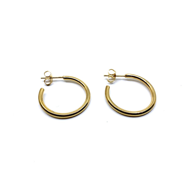 Rhiannon Smith, Two Hills — Hoop Earrings Gold - Australian made Jewellery