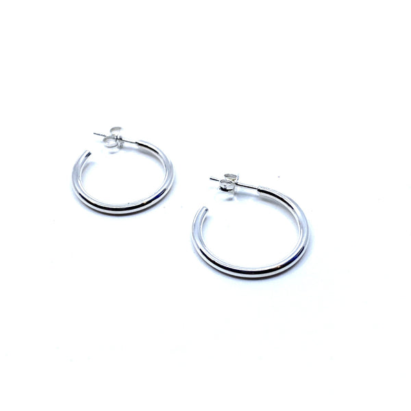 Rhiannon Smith, Two Hills — Hoop Earrings Silver - Australian made Jewellery