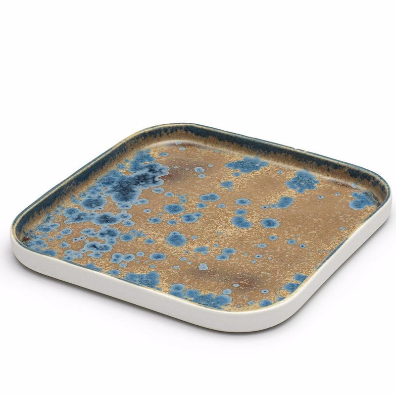 Ryan L Foote —  Crystalline Glaze Square Serving Platter - Australian made Ceramics