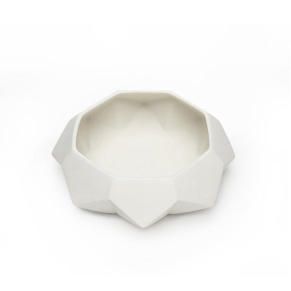 Ryan L Foote — Porcelain Diamond Lab Serving Bowl - Australian made Ceramics