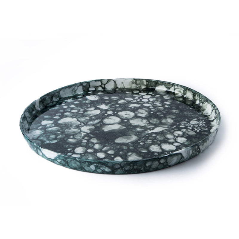 Ryan L Foote — Large Dark Green Bubble Platter - Australian made Ceramics