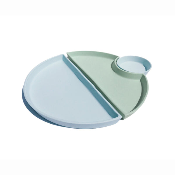Ryan L Foote —  Porcelain Bento Set Style 1 in Light Blue and Mint - Australian made Ceramics