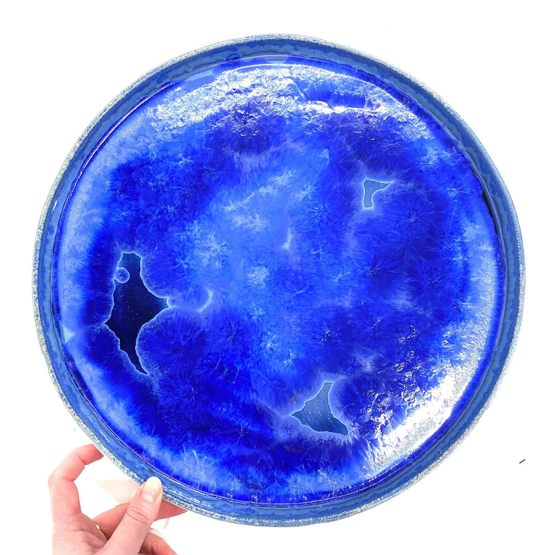 Ryan L Foote — X-Large Crystalline Bubble Platter - Australian made Ceramics