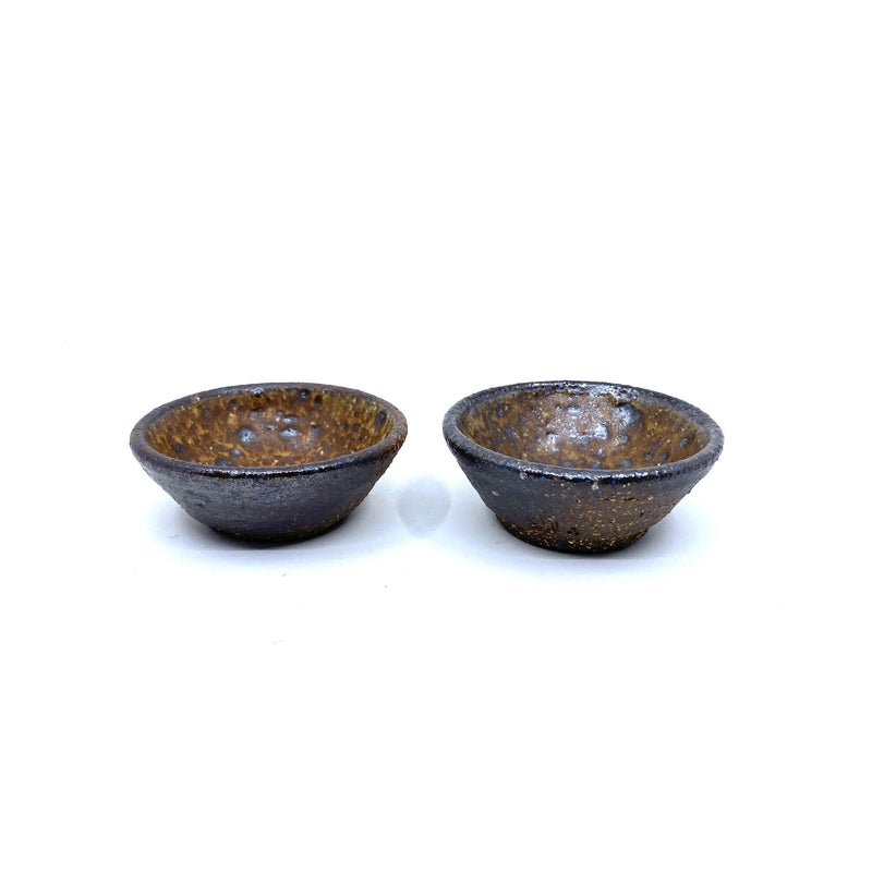 Sandra Bowkett — Pair of Wood Fired Spice Bowls - Australian made Ceramics