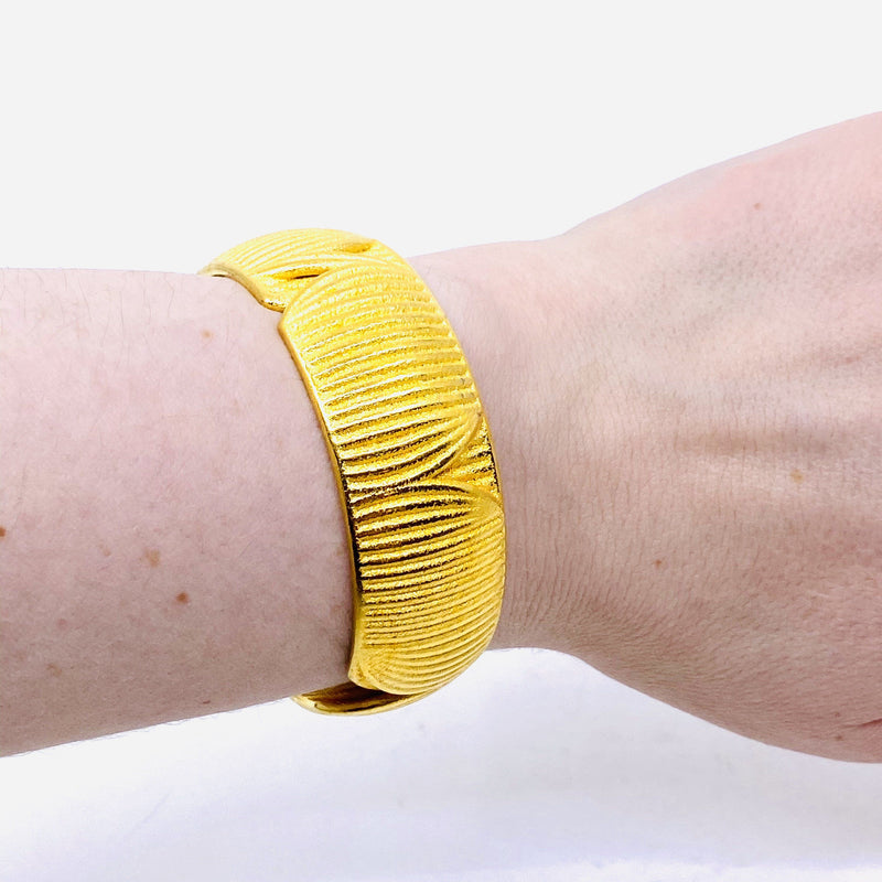 Sarah Ceravolo, Convolo Design — Gold Plated Steel Fuma Bracelet - Australian made Jewellery