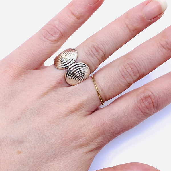 Sarah Ceravolo, Convolo Design — Steel Ring - Australian made Jewellery