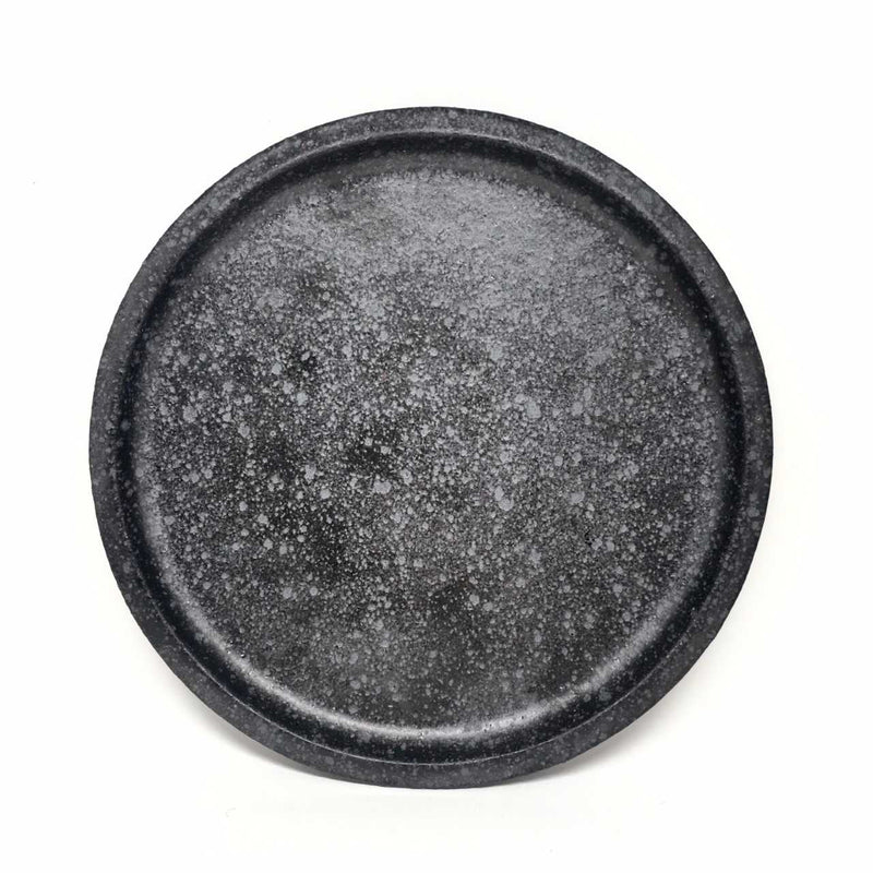 Sharon Alpren — Black Side Plate - Australian made Ceramics