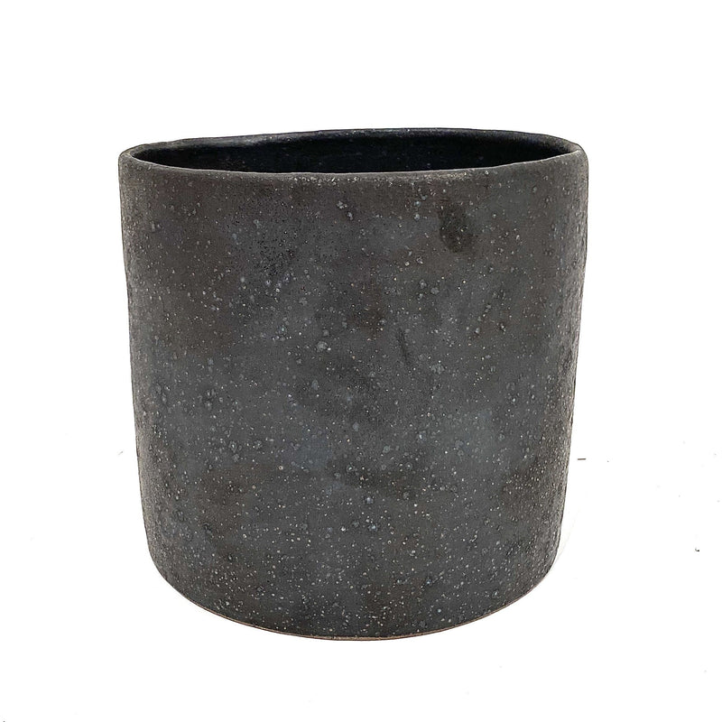 Sharon Alpren — Matt Black Medium Planter - Australian made Ceramics