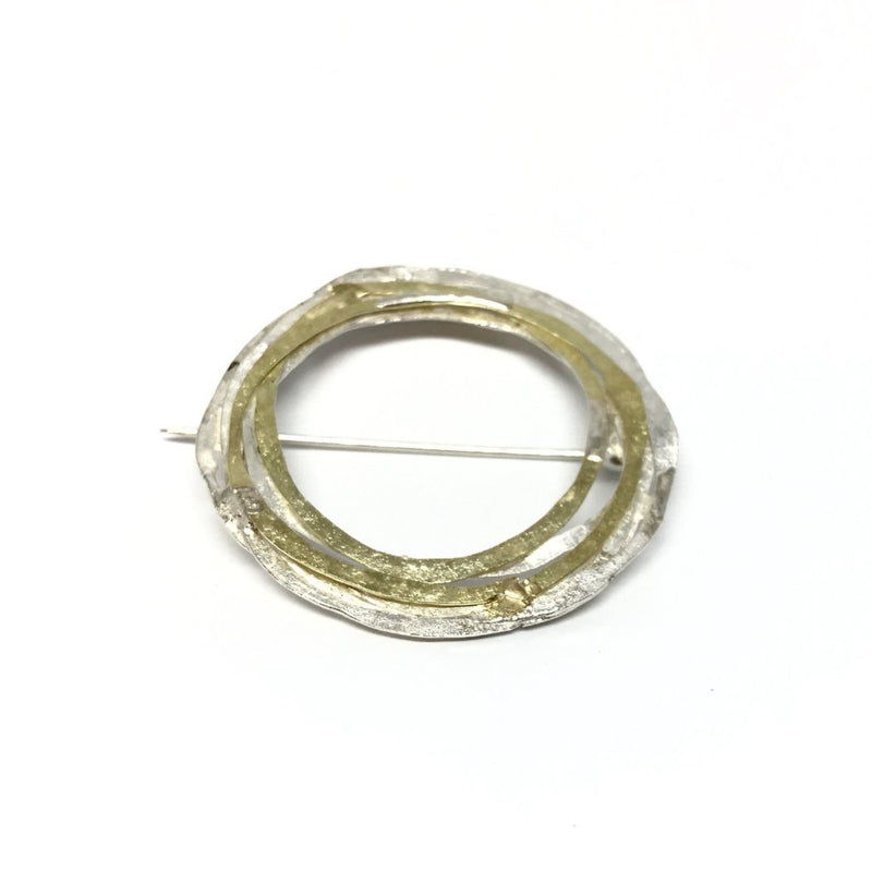 Shimara Carlow — Gold and Silver Brooch - Australian made Jewellery