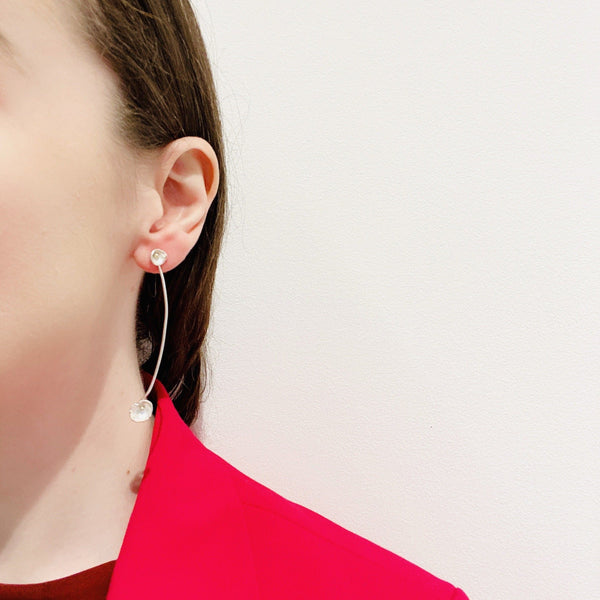 Shimara Carlow — Gold and Silver Drop Earrings - Australian made Jewellery