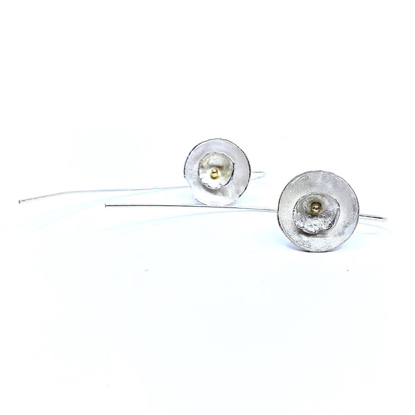 Shimara Carlow — Silver and Gold Daisy Earrings - Australian made Jewellery