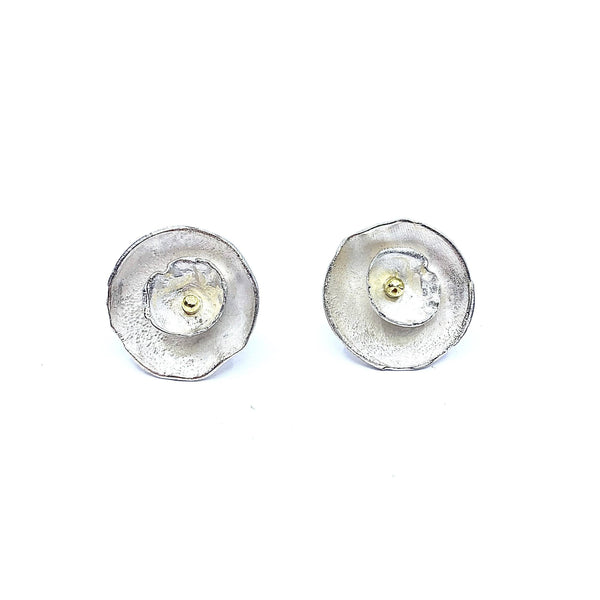 Shimara Carlow — Silver and Gold Daisy Stud Earrings - Australian made Jewellery