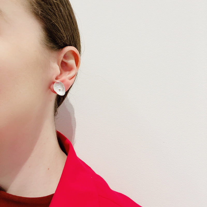 Shimara Carlow — Silver and Gold Petal Studs - Australian made Jewellery