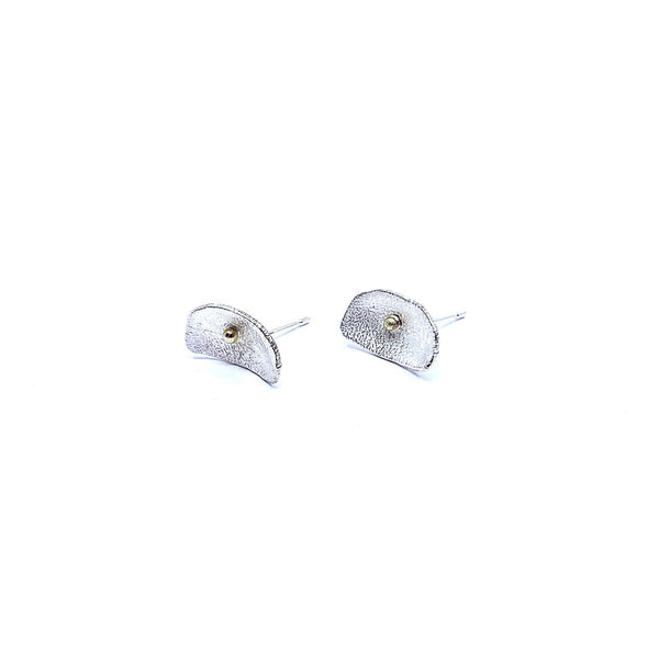 Shimara Carlow - Silver and Gold Petal Studs - Australian made Jewellery