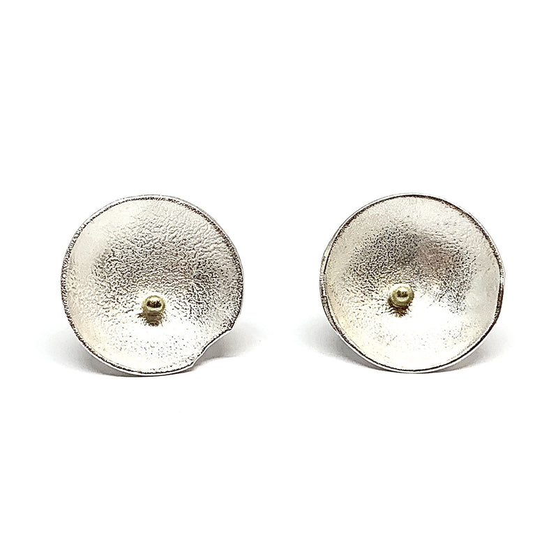 Shimara Carlow - Silver and Gold Studs - Australian made Jewellery