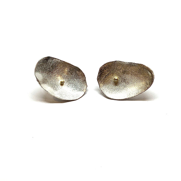 Shimara Carlow — Silver and Gold Studs - Australian made Jewellery