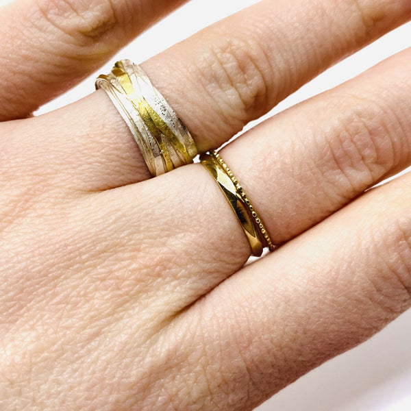 Shimara Carlow - Silver and Gold Wrap Ring - Australian made Jewellery