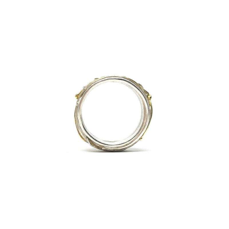 Shimara Carlow - Silver and Gold Wrap Ring - Jewellery - Craft
