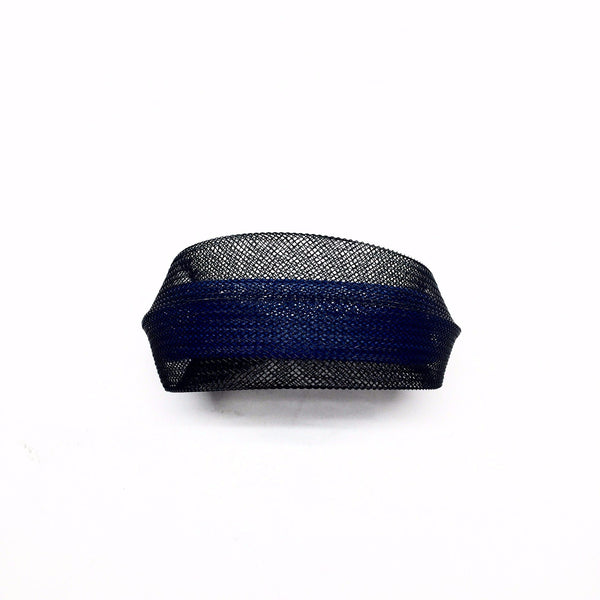 Sophia Emmett — Double Mesh Bracelet Black Outside Blue Inside - Australian made Jewellery