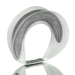 Sophia Emmett — Double Mesh Bracelet White Outside Black Inside - Australian made Jewellery