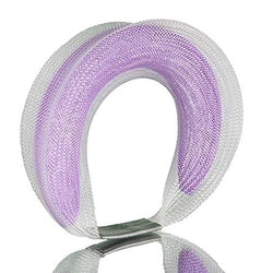 Sophia Emmett — Double Mesh Bracelet White Outside Purple Inside - Australian made Jewellery
