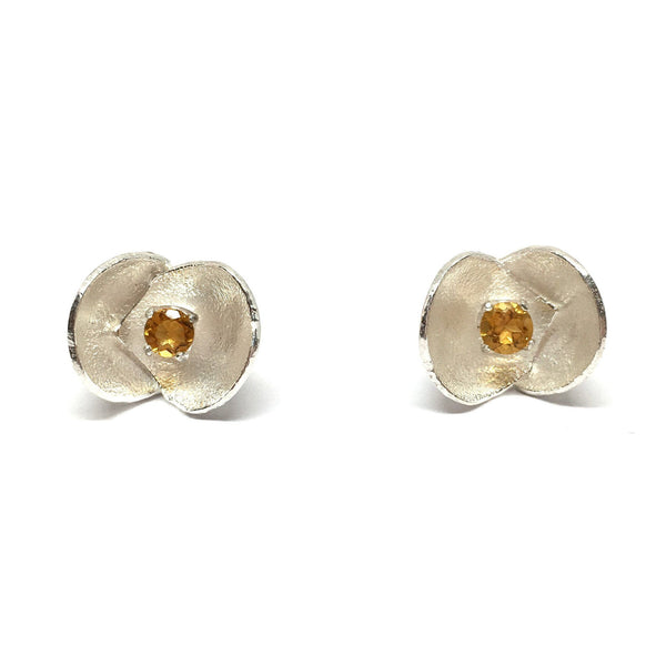 Sunggee Min - Lotus Tree Studs with Citrine - Jewellery - Craft