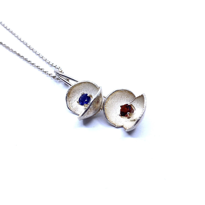 Sunggee Min —  Silver Lotus Necklace with Topaz - Australian made Jewellery